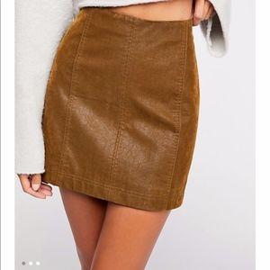 NEW!!!   Faux Leather Mini Vegan Leather Skirt